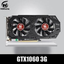 Karta graficzna VEINEDA GTX 1060 3GB 192Bit GDDR5 karta graficzna GPU PCI E 3.0 dla gier z serii nVIDIA Gefore silniejsza niż GTX 1050Ti