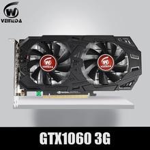 VEINEDA גרפיקה כרטיס GTX 1060 3GB 192Bit GDDR5 GPU וידאו כרטיס PCI E 3.0 עבור nVIDIA Gefore סדרת משחקים חזק יותר מ GTX 1050Ti