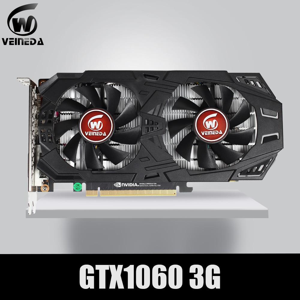 Видеокарта VEINEDA GTX 1060 с PCI-E 3.0, графическая карта 3 Гб, 192 бит, с GDDR5 и ГПУ, PCI-E 3.0 для игр серии NVIDIA GeForce, лучше, чем GTX 1050Ti-0