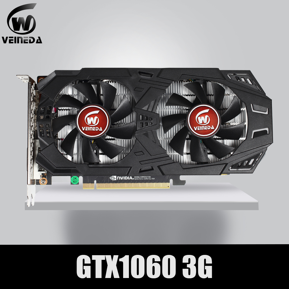VEINEDA Graphics Card GTX 1060 3GB 192Bit GDDR5 GPU Video Card PCI E 3.0 For nVIDIA Gefore Series Games Stronger than GTX 1050Ti|Graphics Cards|   - AliExpress
