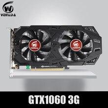 Placa de vídeo pci-e 1060 da placa gráfica gtx 3.0 3gb 192bit gddr5 gpu para jogos da série de gefore de nvidia mais fortes do que gtx 1050ti
