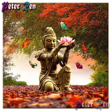 5d Diamond Painting Religion Buddha Flower Cross Stitch DIY Full Square or Round Diamond embroidery picture Home Decoration gift 5d diamond painting religion buddha flower cross stitch diy full square or round diamond embroidery picture home decoration gift