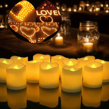 Светодиодный светильник с питанием от батареи для свечей беспламенный имитация светодиодный светильник для свечей на Рождество, Хэллоуин, пасху, год, свечи