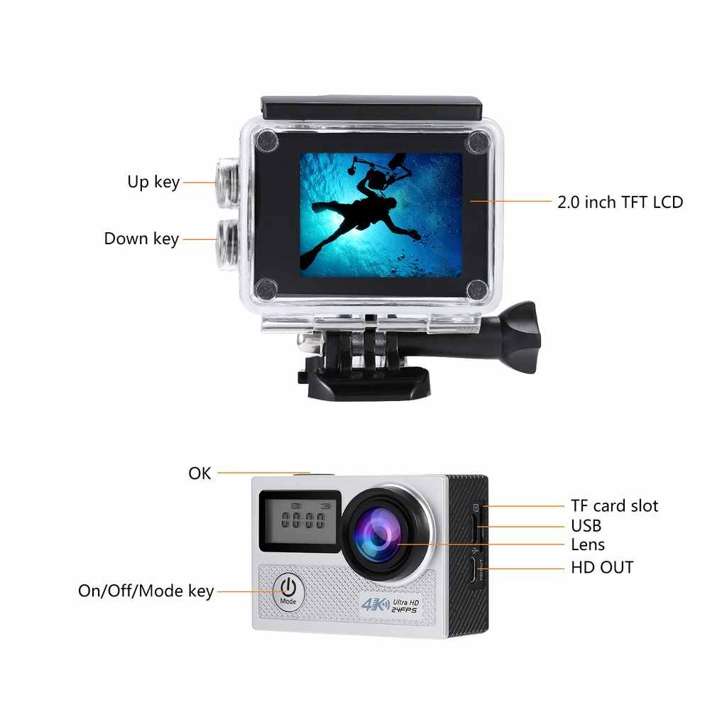 N5A Waterproof WiFi 4K Action Camera 1080P/60FPS Ultra HD Cam with 170 Degree Wide Angle Lens