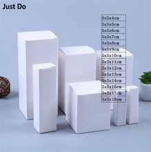 5*5cm white paper cardboard box DIY Gift Boxes White Paper Small Soap Box Mini Jewelry cosmetics Packing boxes(China)