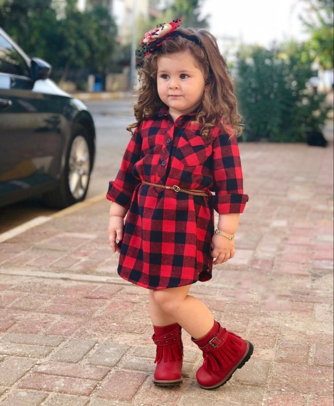 0-5T <font><b>Christmas</b></font> Toddler Newborn Kids Baby <font><b>Girls</b></font> <font><b>Dress</b></font> <font><b>Red</b></font> Plaid Cotton Princess Party <font><b>Long</b></font> <font><b>Sleeve</b></font> <font><b>Dress</b></font> Clothes <font><b>Girl</b></font> image