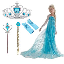Elsa Dress Party-Vestidos Christmas Birthday Fancy Cosplay Kids Girls Summer for Menina