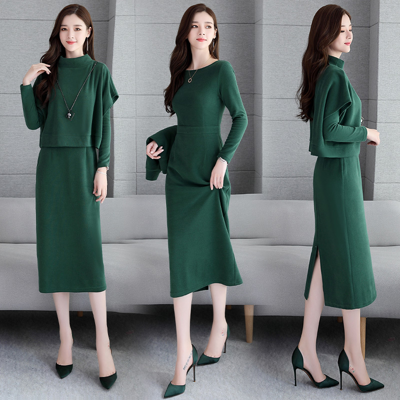 Early Autumn Dress WOMEN'S Suit 2019 New Style Autumn Fashion Western Style Online Celebrity Graceful Elegant Knitted Two-Piece