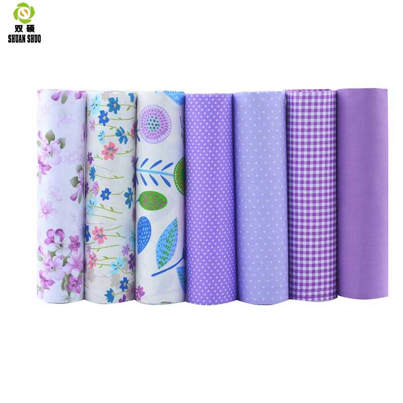 عالية الجودة 10 سلسلة Serie الأزهار القطن خليط النسيج الدهون الربع حزم النسيج ل الخياطة دمية الملابس 40*50 سنتيمتر 7 قطعة/الوحدة