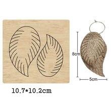 Модные висячие серьги с двойными листьями и полосками высекальные