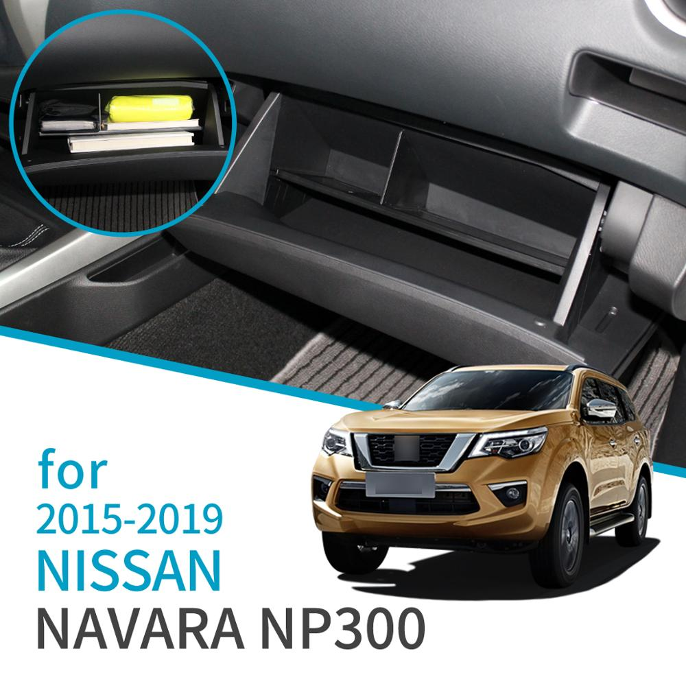 para nissan navara np300 d23 caixa de luva do carro acessorios caixa de armazenamento console central