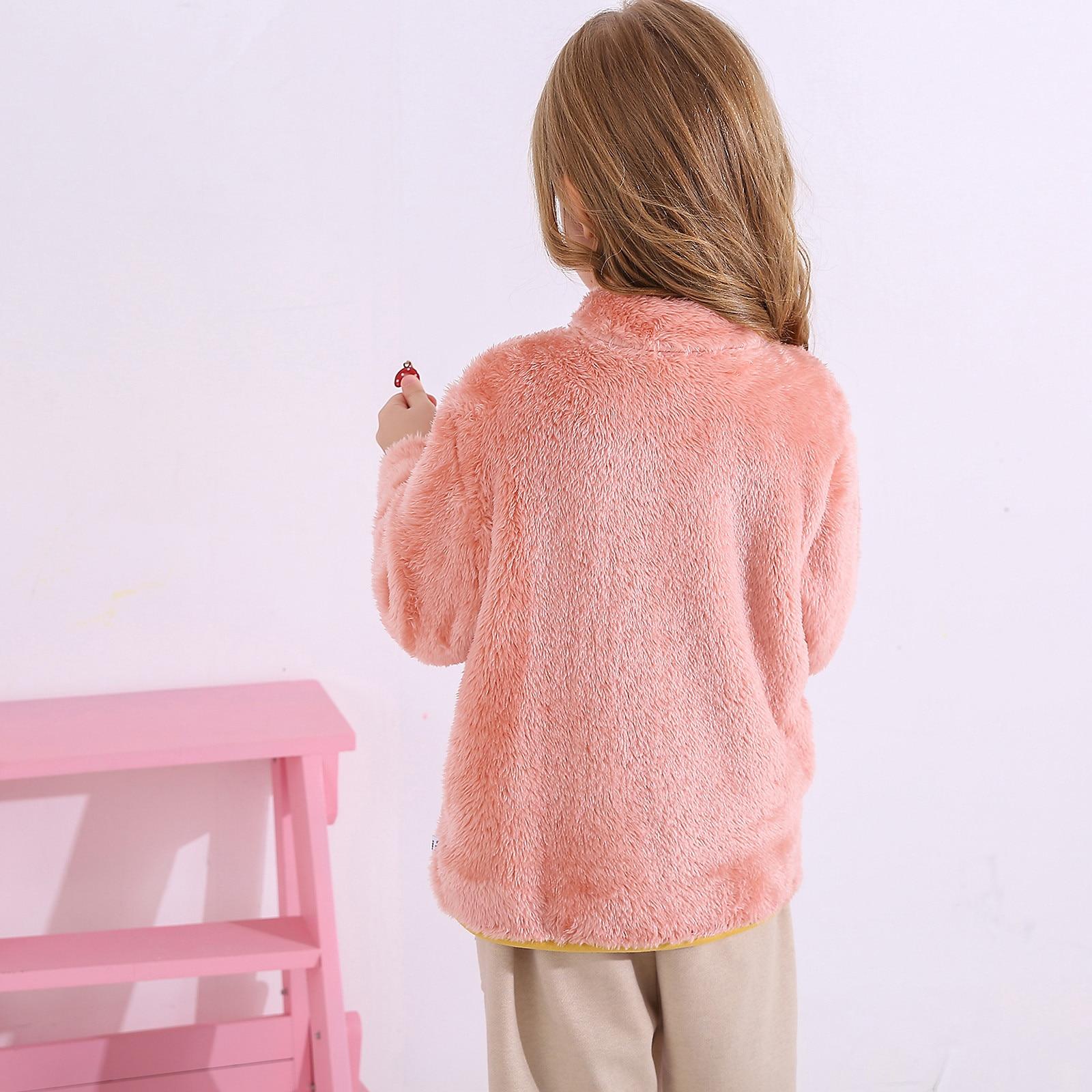 Пальто для детей; Детская одежда; Теплые фланелевые Зимние флисовые куртки для маленьких мальчиков и девочек; Толстовка; Плотные пальто; куртка для девочек-2