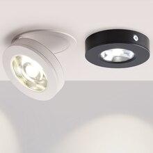 Вращающиеся на 360 ° складные встраиваемые круглые светодиодные потолочные светильники COB 7 Вт/12 Вт светодиодные потолочные точечные светильники с рисунком для помещений
