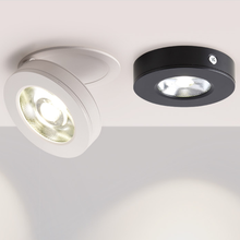 Obrót o 360 ° składane wpuszczane okrągłe oprawy LED COB 7 W/12 W LED sufitowe lampy punktowe obraz W tle lampy kryty Lig