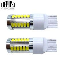 цена на 2x T20 7440 7443 33 SMD 5630 LED W21/5W W21W WY21W Car Auto DRL Driving light Turn signal Brake light Reserve Light White 12V