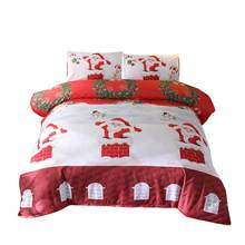 3D Printed Merry Christmas Bedding Set Festival Gifts Kid Duvet Cover Single Queen King Size Quilt Covers Snowman Elk Bed Linens(China)
