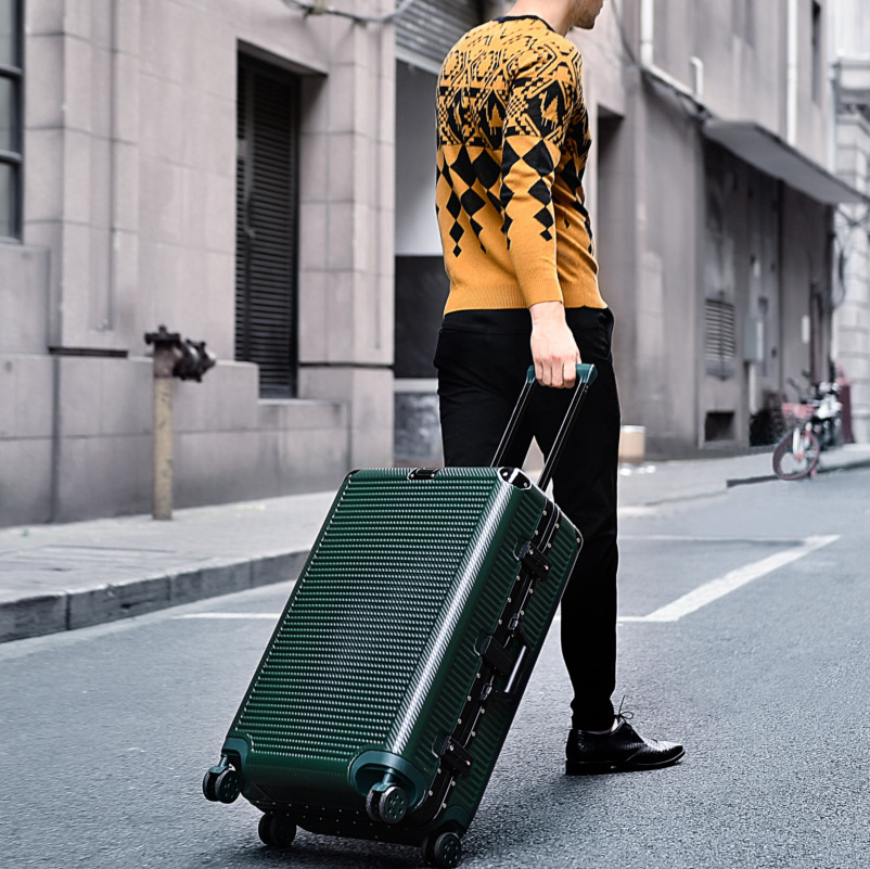 "Super fashion NEW spinner aluminum frame hardside travel suitcase on wheel 26"" travel bags trolley luggage bag 20"" 24"