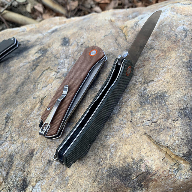 TUNAFIRE Folding Pocket Knife TUNAFIRE Outdoor Cutter Pocket D2 high speed Steel Survival Camping Multifunctional tools 4