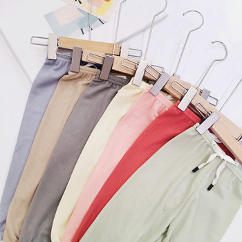 Letnie chłopięce i dziewczęce ubrania spodnie fibre Anti-mosquito spodnie kreskówka zwierzęta noworodka spodnie dziewczyna spodnie spodnie dla niemowląt 1 #8211 5Y tanie i dobre opinie Mikrofibra Luźne Unisex PATTERN Pełnej długości Pasuje prawda na wymiar weź swój normalny rozmiar Elastyczny pas