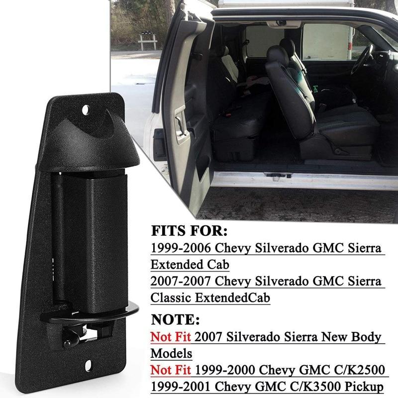 REAR RIGHT Outside Door Handle for Chevrolet Silverado /& GMC Sierra Extended Cab