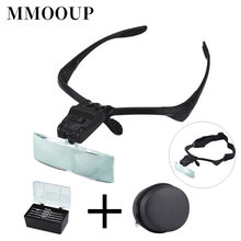 1.0X 1.5X 2.0X 2.5X 3.0X Lamp Head Magnifier Reading Maintenance Optical Special Lens Loupe High-definition Magnifying Glass