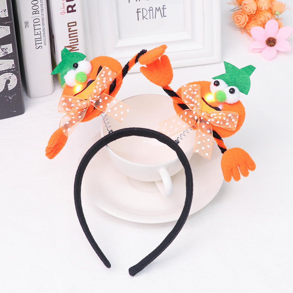 Halloween Headband Hair-Accessories Decorative Hair-Hoop Cosplay New with Lamp Glowing