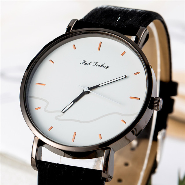 Couples Casual Leather Strap Wristwatch Set 4