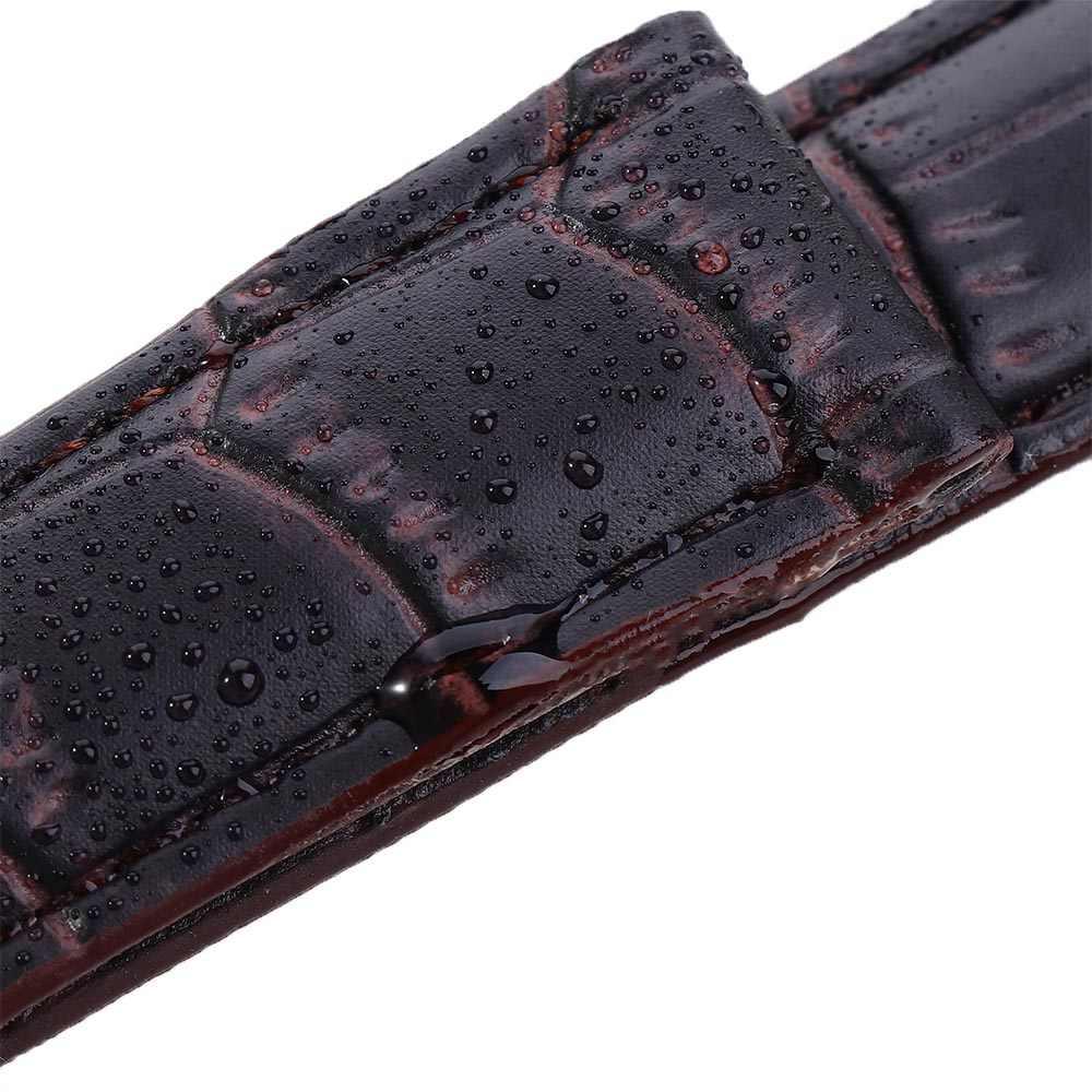 להקת שעון עור מפוצל רצועות watchbands 16mm 18mm 20mm שעון אביזרי גברים חום שחור חגורת להקה