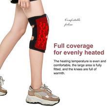 Usb зарядка массажный тепловой наколенник Электрический Теплый наколенник поддержка Подогрев боли Подушка для икр бедра руки коленные суставы