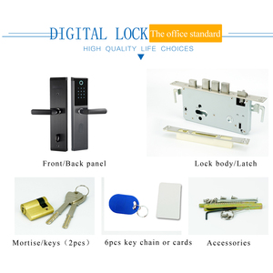 Image 5 - Electronic password door lock touch keypad smart keyless door lock with electronic lock body for home
