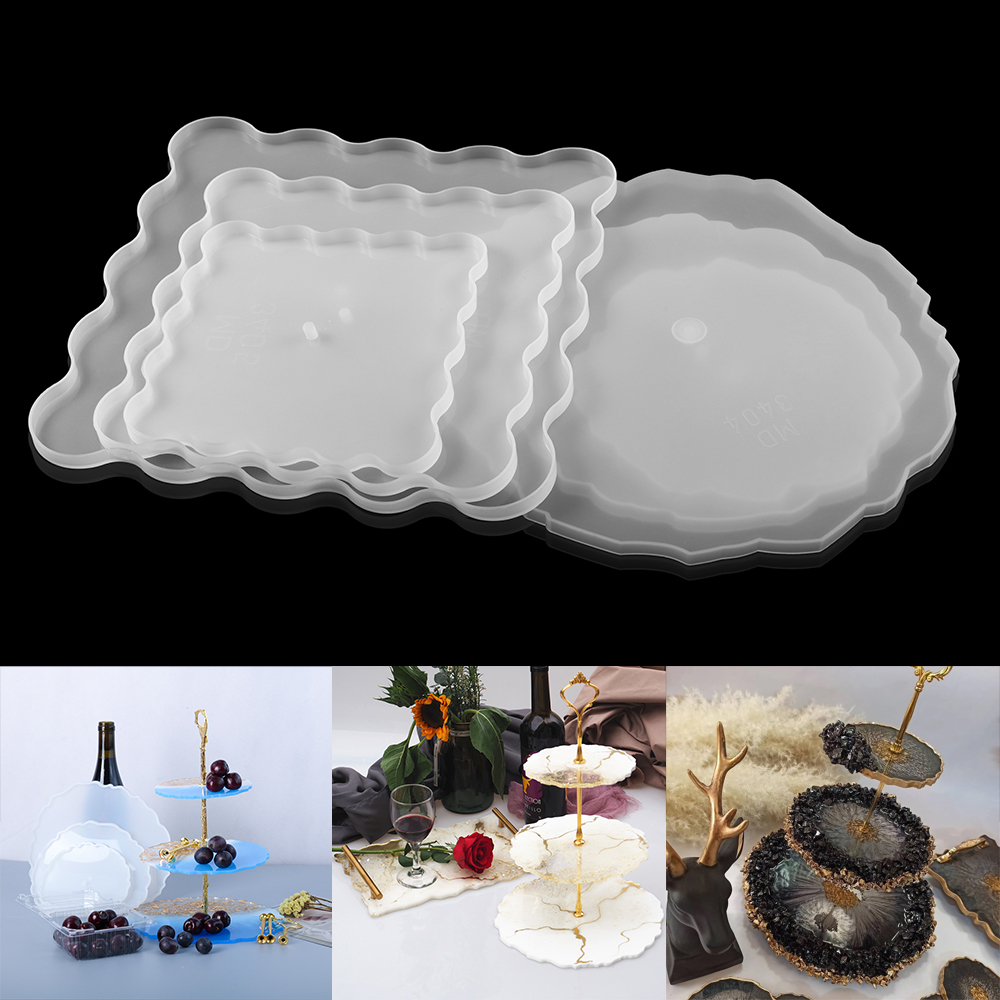 Handmade Resin Moulds DIY Resin Tea Tray Tray Mould Fruit Plate Mold Coasters