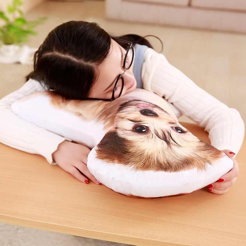 סימולציה Huskey Bomei נמנום כרית כלב כרית ביטוי כרית בובת משרד ממולא בעלי חיים בפלאש צעצוע