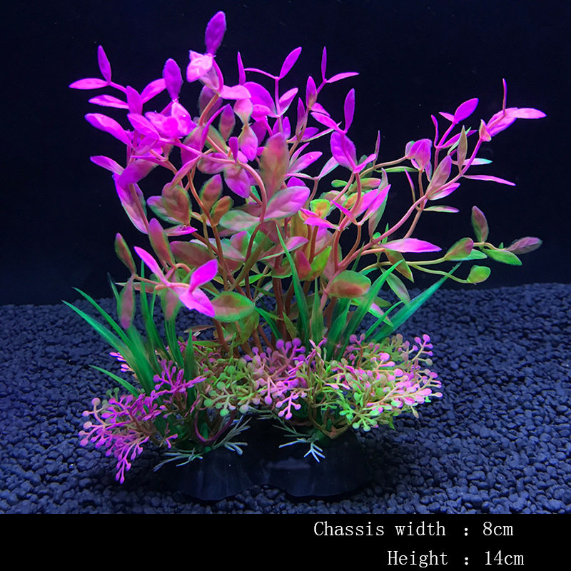 14Cm Simulation Artificial Plants Aquarium Decor Water Weeds Ornament Plant Fish Tank Aquarium Grass Decoration(China)