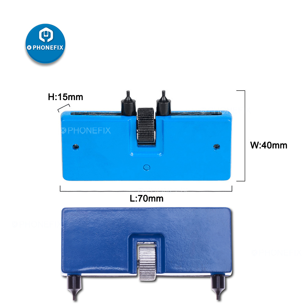 PHONEFIX Adjustable Watch Back Case Cover Opener Remover Wrench Repair Tools for Watchmaker Open Battery Replacement Tool Kit