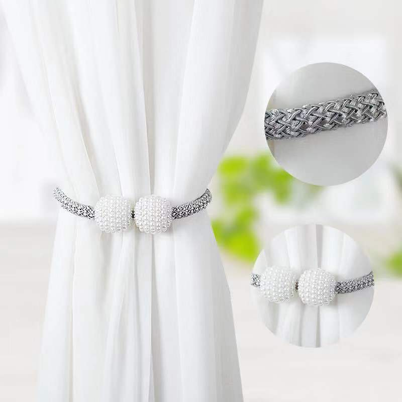 Curtain-Buckle Clip-Hanging Home-Decor Magnetic Creative Pearl 1pcs