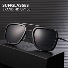 Fashion Iron Man TONY Stark Sunglasses Men Square Retro Designer Sun glasses Ocu