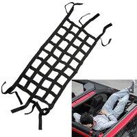 Leepee malha carga net caixa de cauda net multifuncional para jeep wrangler carro telhado armazenamento net acessórios retrofit