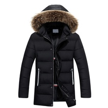 New Design 2019 Plus size M-3XL Long Winter Men Jackets With Fur Hood Men's Clothing Casual Jackets Thickening Parkas Male Coats 2017 camouflage parkas men military medium long winter larger size m 5xl men thickening cotton padded jacket men with fur hood