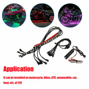 Image 5 - 6X Motorcycle LED Neon Strip Lamp Wireless RGB 18  colors Remote Control Under Glow Lights LED Car Decorative Light Strip Kits