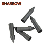 12/24Pcs 100Grain Archery Steel Arrowhead Target Points Tips Bullet Broadhead For Arrow Shooting Training Accessories