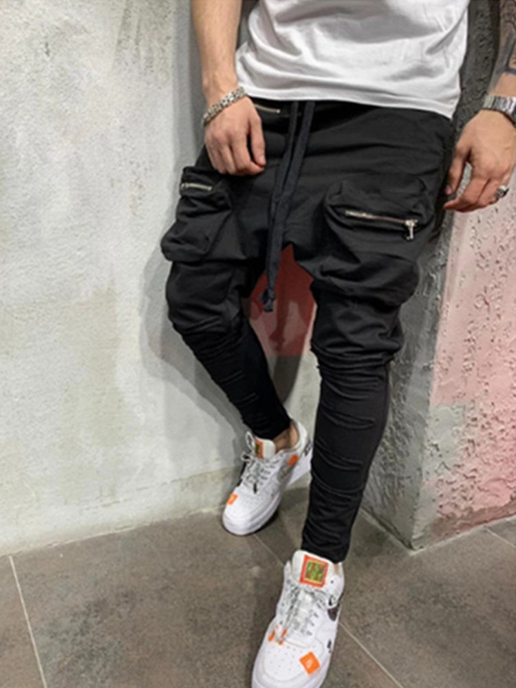 2019 New Men Joggers Brand Male Trousers Casual Pants Sweatpants Jogger Grey Casual Elastic Cotton GYMS Fitness Workout S-3XL