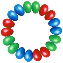 18pcs Egg Shakers Plastic Egg Music Shakers for Kids Maracas Eggs Percussion Toys