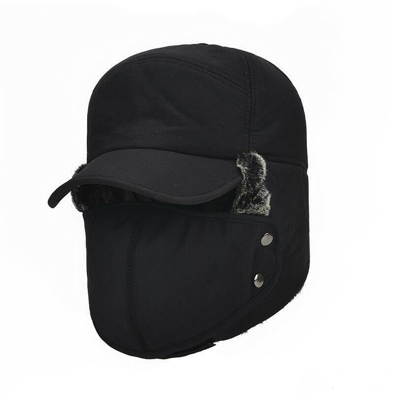 Новинка, модные мужские шапки-бомберы, одноцветные зимние теплые спортивные шапки для путешествий, кемпинга, активного отдыха, теплые шапки, Непродуваемые шапки