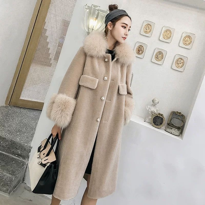 2019 Faux Fur Coat Women Casual Hoodies Furry Thick Warm Long Faux Wool Fur Jacket  Loose Winter Coat Women Casaco Feminino