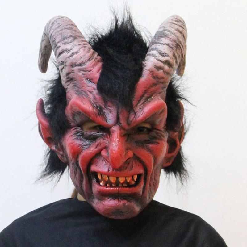 Маскарадный маскарадный костюм коготь красная рогатая овца Дьявол маска коготь страшные ожесточенные вечерние маскарадные маски для взро...