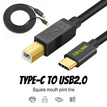 Type C Male Connector To USB 2.0 B Type Male Data Cable Adapter For Cell Phone Printer Hard Disk File Transfer Fast Gold plated