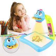Projector Learning And Drawing Painting Set Kids Drawing Tracing Desk Art Tracing Projector Kit Educational Drawing Set Juguetes