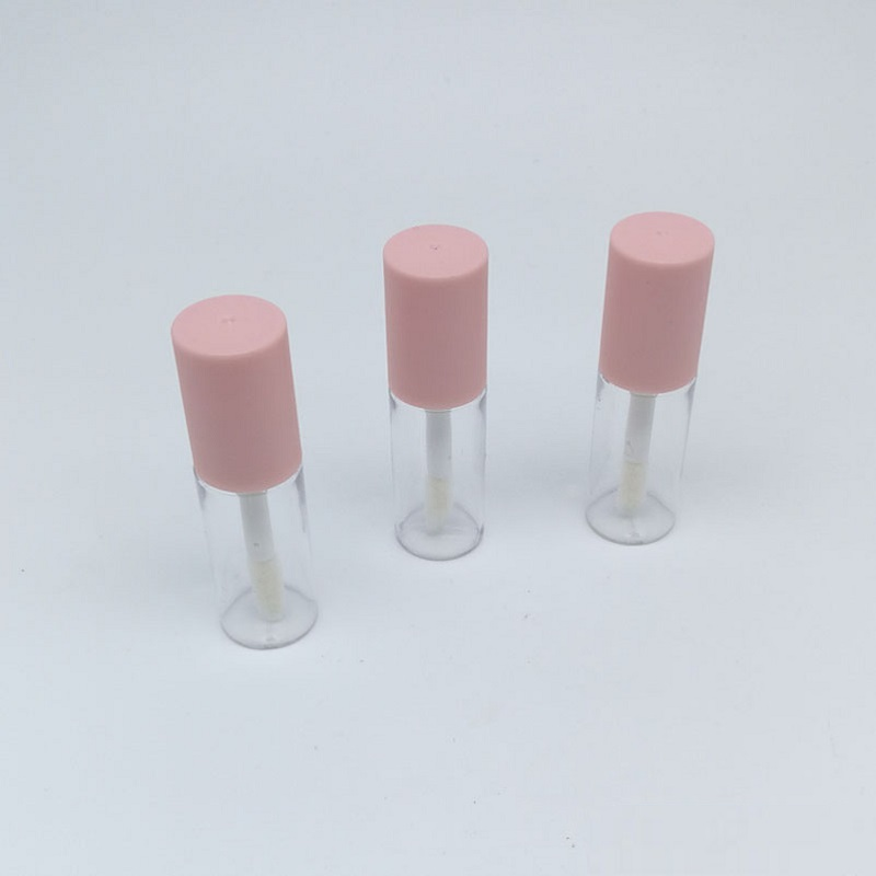 Mini 3ML Lip Gloss Tubes With Wand Round Pink Clear Empty Lipgloss Containers Tubes Refillable Lip Gloss Packaging 10pcs 30pcs