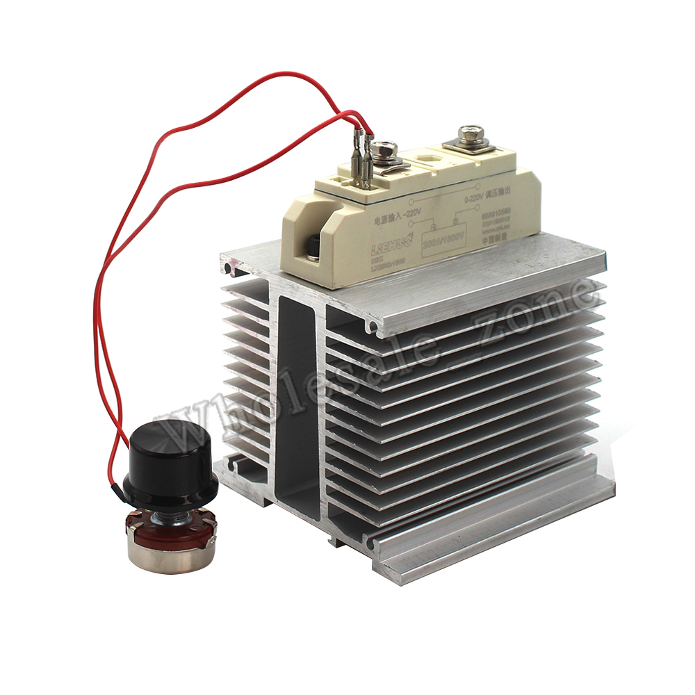 Nouveau AC 0-220V 200A 2.5kw 25000W numérique SCR régulateur de tension variateur de vitesse gradation température Thermostat contrôle