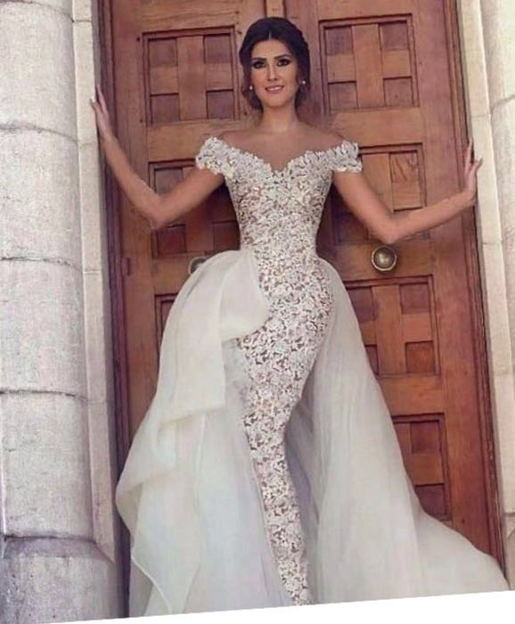 Elegant Cap Sleeve Boat Neck Lace Appliques 2018 Custom Made Prom Women Special Occasion Bridal Gown Mother Of The Bride Dresses